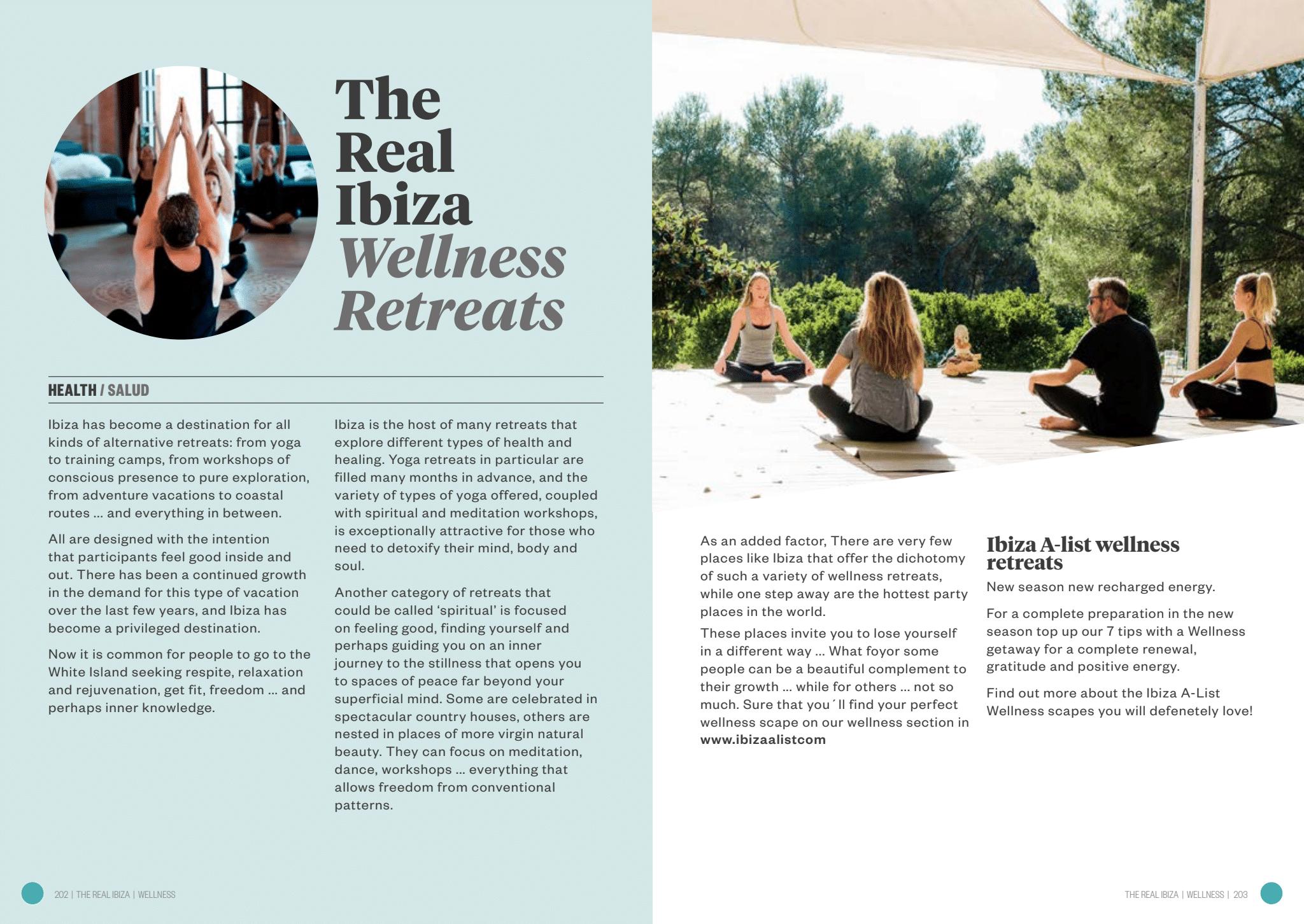 The Real Ibiza. Wellness retreats. Retiros de bienestar.